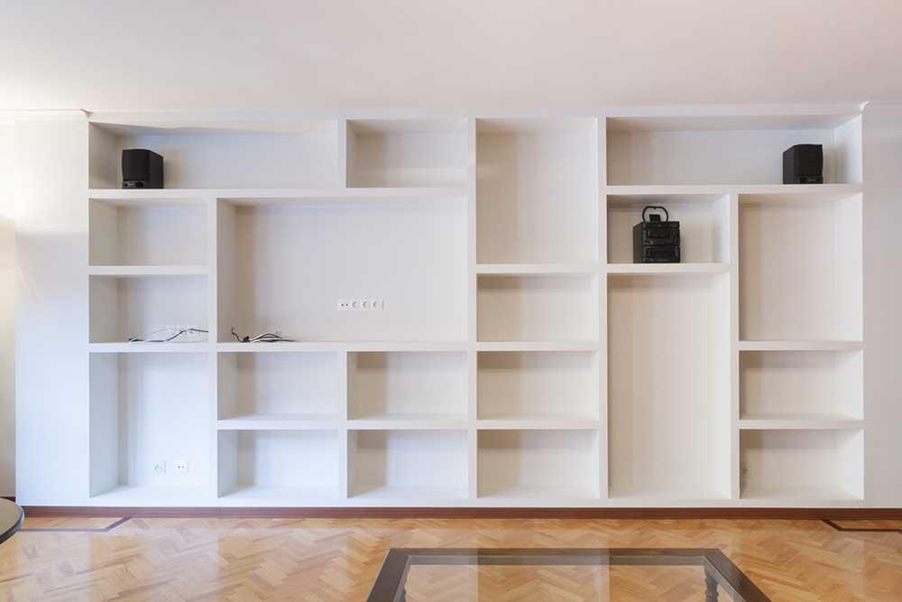 Estanter a pladur aldo romani construcciones y reformas for Muebles de pladur para salon